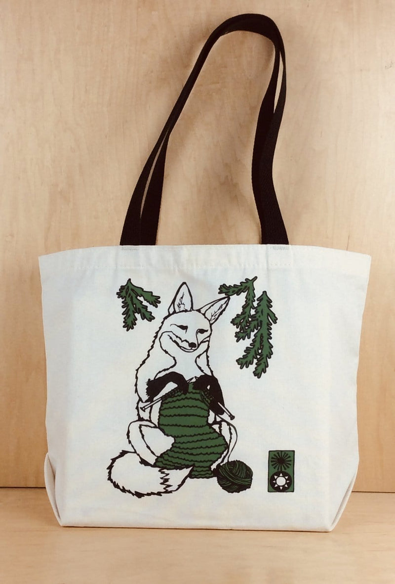 Animal Knitting Project Tote