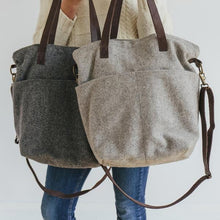 Wool Crossbody Project Tote