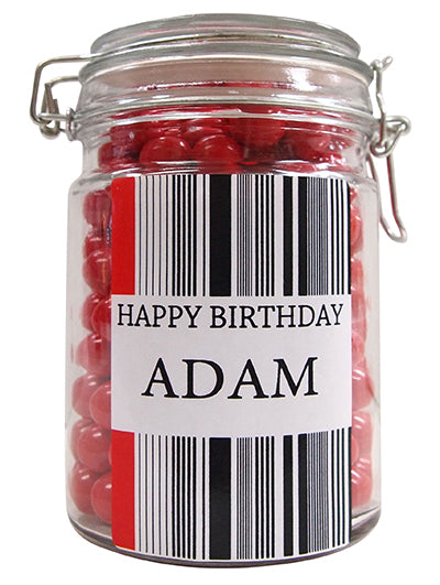 Any Occasion Personalised Lolly Jar (Mono)