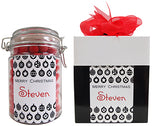 Xmas - Classic Baubles Personalised Lolly Jar