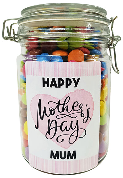 Mothers Day Heart Personalised Lolly Jar