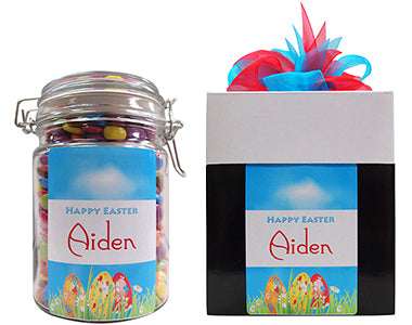 Easter Surprise Personalised Lolly Jar