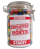 Employee of the Month Personalised Lolly Jar