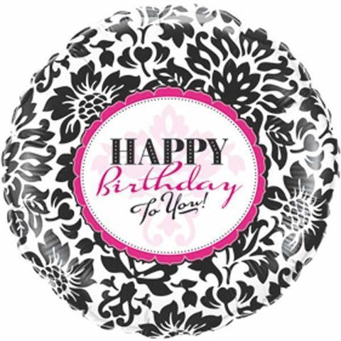 018 Birthday Elegant Damask