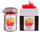 Happy Birthday Emojis - Personalised Lolly Jar