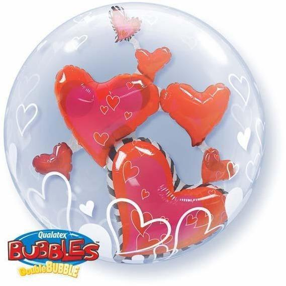 505 Floating Hearts Double Bubble
