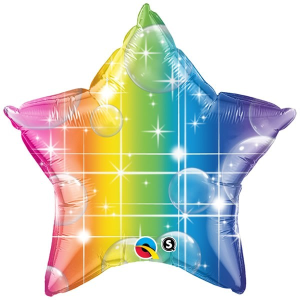 100 Rainbow Star & Bubbles