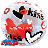 425 Valentines Day Kisses Bubble