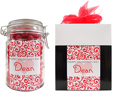 Valentines Day Personalised Lolly Jar