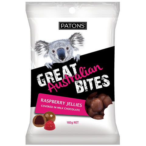 Patons Milk Choc Raspberry Jelly Bites 165g