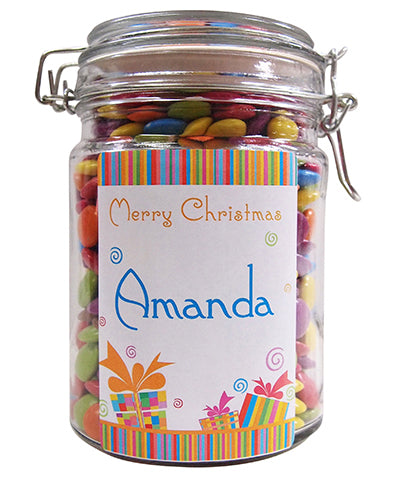 Xmas  - Christmas Fun Personalised Lolly Jar