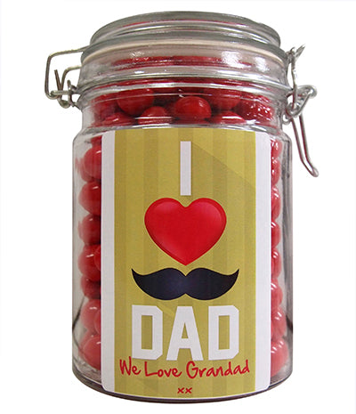 Happy Fathers Day - I Love Dad, We Love Grandad