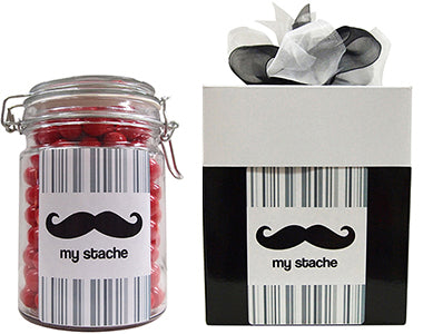 My Stache Lolly Jar