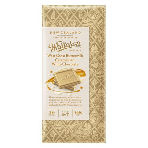 Whittakers West Coast Buttermilk Caramelised White Chocolate Block