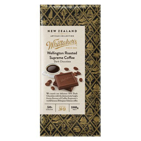Whittakers Wellington Roasted Supreme Coffee Block