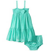 Load image into Gallery viewer, Kate Spade Babies Garden Mint Clipped Dot Ruffled Sundress & Bloomer Set - 18M - Luxe Fashion Finds