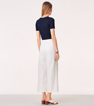Load image into Gallery viewer, Tory Burch Women's Jodie Jacquard Tailored White Cotton Wide-Leg Crop Pant  27 - Luxe Fashion Finds