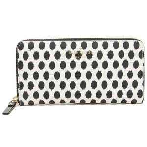 Kate Spade Women's Harding Street Lacey Ikat Dot Accordian White Zip Wallet - Luxe Fashion Finds