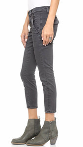 Crippen Six Trouser Women's Cropped Black Cotton Mid-Rise Skinny Jeans - 26 - Luxe Fashion Finds