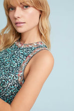 Load image into Gallery viewer, Anthropologie Women's Sequin Floral Sleeveless A-Line Swing Mini Dress - 6 - Luxe Fashion Finds
