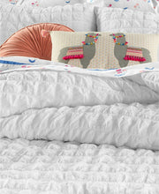 Load image into Gallery viewer, Martha Stewart Whim Collection Seersucker 2-PC White Cotton Comforter Twin Set - Luxe Fashion Finds