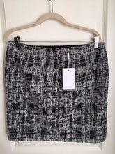 Load image into Gallery viewer, INWEAR Blair Black Gray Graphic Check Wool Blend Mini Short Skirt – 12 (42) - Luxe Fashion Finds