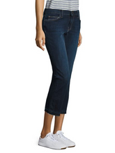 Load image into Gallery viewer, Current Elliott Women's Crop Straight Raw Hem Stretch Mid-Rise Jean, Hampton 30 - Luxe Fashion Finds