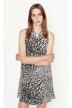 Load image into Gallery viewer, Equipment Women's Mina Silk Black Leopard Sleeveless A-Line Shift Dress - Small - Luxe Fashion Finds