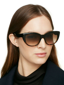 Kate Spade Women's Emalee Tortoise Shell Cat-Eye Gradient Lens 54mm Sunglasses - Luxe Fashion Finds