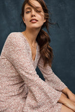 Load image into Gallery viewer, Anthropologie Maeve Susie V-Neck Long Bell Sleeve Cream Cotton Swing Dress. - Luxe Fashion Finds