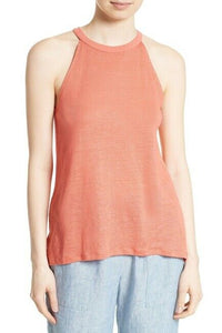 Joie Women's Odelia Linen Jersey Racerback Cami Tank Top – Blood orange – Large. - Luxe Fashion Finds