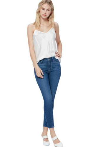 Paige Women's Hoxton High-Rise Crop Transcend Skinny Blue Jeans, Ridgeline - Luxe Fashion Finds