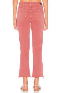 PAIGE Hoxton High Waist Slit Hem Ankle Straight Jeans, Vintage Wildflower Pink - Luxe Fashion Finds