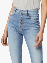 Load image into Gallery viewer, Mother Women's Pixie Dazzler Ankle Fray Faded Straight Jeans, Shoot To Thrill - Luxe Fashion Finds