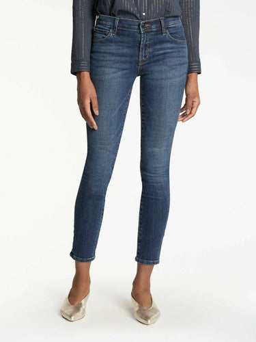 J Brand Women's 811 Mid Rise Skinny Crop Faded Jeans, Mesmeric - 24 - Luxe Fashion Finds