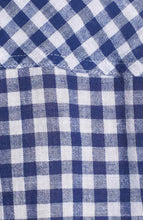 Load image into Gallery viewer, Rails Women's Gingham Blue White Check Cotton Linen Crop Tie-Front Shirt - M - Luxe Fashion Finds