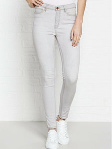 MIH Denim Bridge High Rise Super Skinny Medium Stretch Faded Gray Women's Jeans - Luxe Fashion Finds