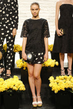 Load image into Gallery viewer, Kate Spade Women's Floral lace Short Sleeve Round Neck Black Blouse - Luxe Fashion Finds