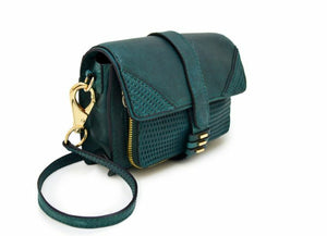 She + Lo Silver Lining Leather Moto Crossbody Shoulder Small Camera Bag - Luxe Fashion Finds