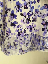 Load image into Gallery viewer, Kate Spade Hydrangea Double Layer Silk Sleeveless Ruffle Hem Tank Top - Medium - Luxe Fashion Finds