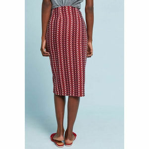 Copy of Anthropologie Eva Franco Wool Tweed Foldover Red Striped Slim Pencil Skirt – 12. - Luxe Fashion Finds