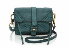Load image into Gallery viewer, She + Lo Silver Lining Leather Moto Crossbody Shoulder Small Camera Bag - Luxe Fashion Finds