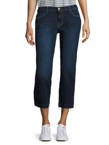 Current Elliott Women's Crop Straight Raw Hem Stretch Mid-Rise Jean, Hampton 30 - Luxe Fashion Finds