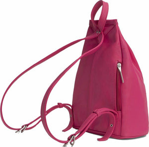 Matt & Nat Women's Vegan Leather Fuschia Pink  Zip Adjustable Small Backpack - Luxe Fashion Finds