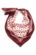"Load image into Gallery viewer, Kate Spade Women's Silk Floral Moroccan Tile Square Scarf - Pink Sand - 34"" x 34"" - Luxe Fashion Finds"