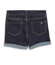 Load image into Gallery viewer, Kate Spade Girls' Rolled Cuffs Indigo Blue Stretch Zip Denim Jean Shorts - Luxe Fashion Finds
