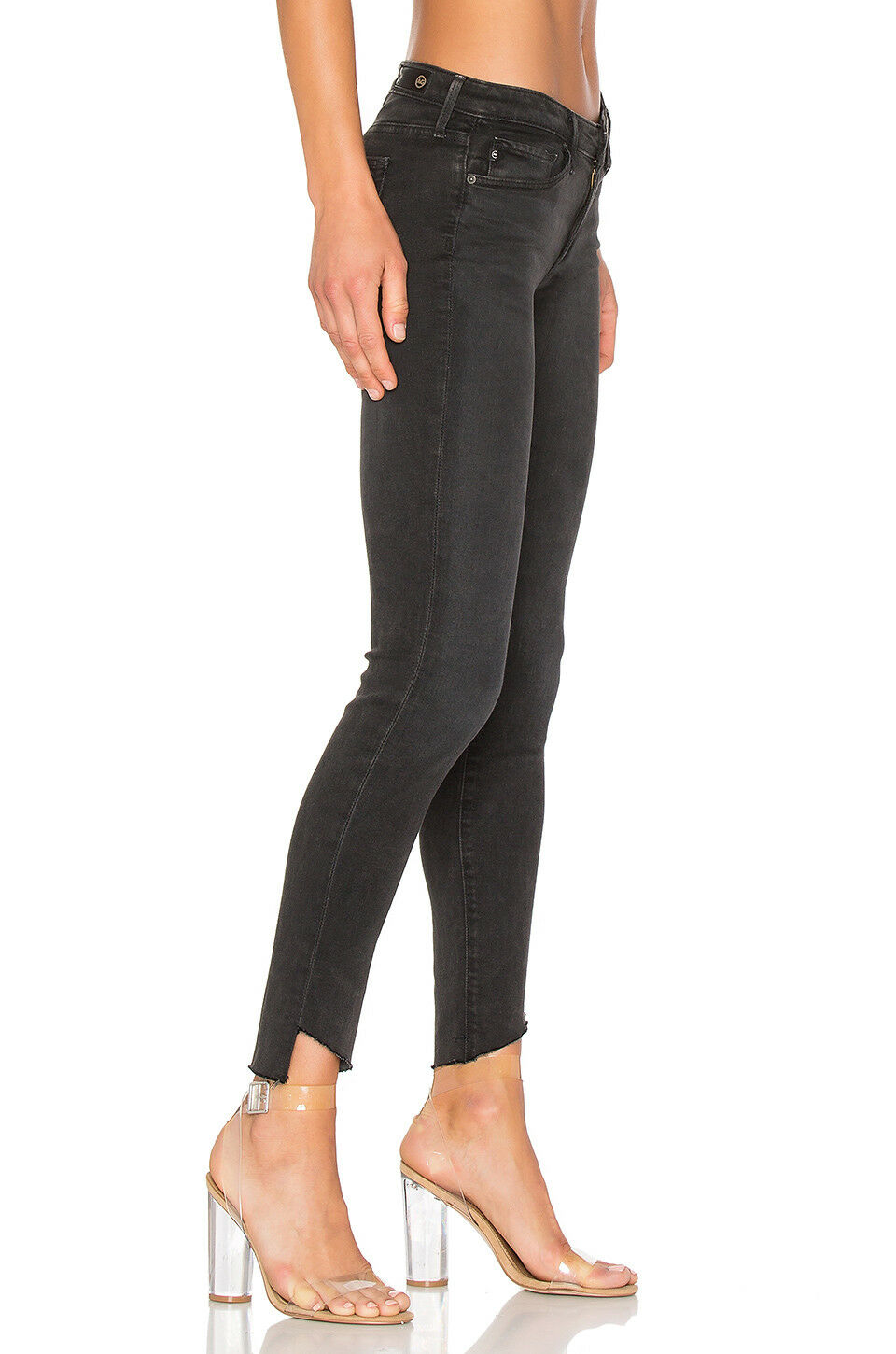 AG The Legging Ankle Super Skinny Crop Stretch Fray Hem Jean – Rustic Black  31 - Luxe Fashion Finds