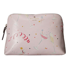 Load image into Gallery viewer, Kate Spade Women's Dashing Beauty Small Briley Pink Cosmetics Travel Clutch Bag - Luxe Fashion Finds