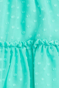 Kate Spade Babies Garden Mint Clipped Dot Ruffled Sundress & Bloomer Set - 18M - Luxe Fashion Finds