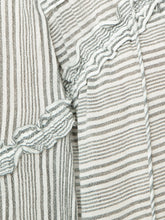 Load image into Gallery viewer, Derek Lam 10 Crosby Women's Stripe Cotton V-Neck Tassel Tie Blouse Tunic -10 - Luxe Fashion Finds